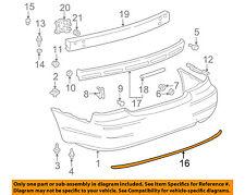 TOYOTA OEM 00-04 Avalon-Bumper Trim-Molding Trim 52751AC020