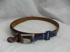 New CROFT & BARROW mens 46-48 Brown Faux Leather Belt PEWTER Buckle FATHERS DAY