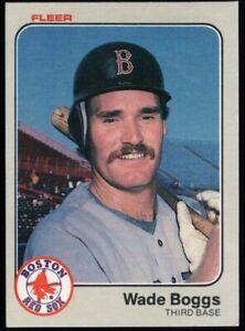 WADE BOGGS $80++ MINT BOSTON RED SOX HOF ROOKIE CARD #179 RC SP 83 1983 FLEER
