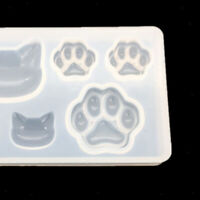 DIY Silikon Cabochon Mould Cat Claw Schmuck Anhänger Casting Formen