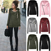 UK Womens Hoody Hoodie Sweater Hooded Jacket Sweatshirt Pullover Jumper Coat Top