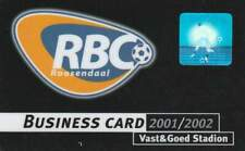 ClubCard RBC seizoen 2001-2002 Business (10)