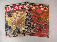 Ro-Busters ~ Book One & Two ~ Paperback 1st Print ~ 1983 Titan Books