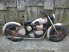"""Vintage Style Motorcycle Bike Tin Metal Wall Art Sign 24"""" Hammered 3-D Harley ??"""
