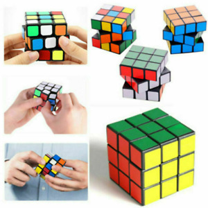 3x3 Rubik's Magic Cube Kids Adult Puzzle Toy Brain Teaser Game Strategy w/ Stand