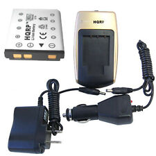 HQRP Battery and Battery Charger for Fuji FujiFilm FinePix Series Digital Camera
