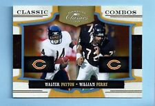 WALTER PAYTON WILLAM PERRY 2009 CLASSICS CLASSIC COMBO /25 BEARS