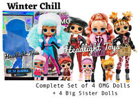 LOL Surprise Complete Set Winter Chill OMG Fashion Dolls & Big Sisters Preorder