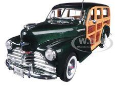 1948 CHEVROLET WOODY WAGON FLEETMASTER GREEN 1/24 DIECAST MODEL CAR WELLY 22083