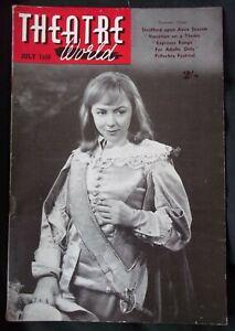Theatre World Magazine July 1958 - Charles Laughton, Miriam Karlin, Shakespeare