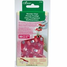 Clover 50 Regular Wonder Clips Red 3156Cv