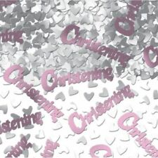 2  X GIRLS PINK CHRISTENING TABLE CONFETTI DECORATIONS