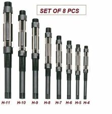 """ADJUSTABLE HAND REAMER SET OF 8 PCS H4 TO H11 SIZE 15/32 TO 1.1/16"""""""