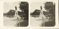 Frankreich Nizza La Statue Von Massena, Foto Stereo Vintage Analog PL62L11