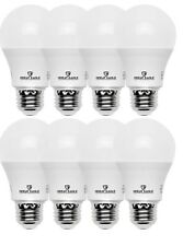 Great Eagle 60W Replacement A19 LED bulb, Cool White, 825 Lumens, 4000K (8-pack)