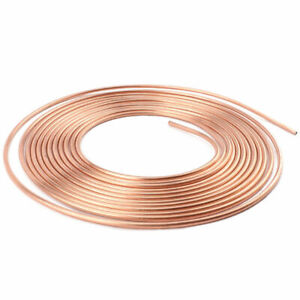 """25ft 3/16"""" Line Roll Tube Piping Joint Union - Copper Brake Pipe Hose"""