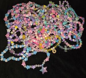 6 Lot Kawaii Cute Kandi Bracelets FREE Festival Rave Dance Pastel FREE SHIPPING