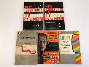 5 1960s Era TV Television Servicing & Analyzing Books Wayne Lemons Kiver Lane