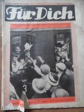 FÜR DICH 40 - 1934/35 Vobachs Unterhaltungsblatt Ferienkinder Regatta Mode