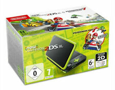 New Nintendo 2DS XL Black and Lime Green + Mario Kart 7 Console Bundle