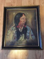 Crow Foot- Percy Two Gun Plainswoman- Painting Art Heirloom With A Story