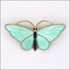AKSEL HOLMSEN -Norway- Silver Enamel Butterfly Brooch/Pin
