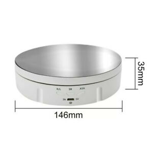 WHITE Motorized Rotating Display Stand • US SELLER