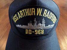U.S MILITARY USS ARTHUR W RADFORD DD-968 NAVY SHIP HAT U.S MILITARY OFFICIAL CAP