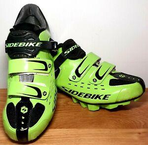 SIDEBIKE SD-001 COMP MTB Road Bike Cycle Shoes  - Green - Size 7.5