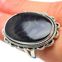 Large Psilomelane 925 Sterling Silver Ring Size 7 Ana Co Jewelry R32663