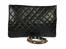 Ariana Grande Small Black Stitched Clutch with Chain Bracelet **NEW**
