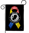 Support POW MIA Troops Garden Flag Service Armed Forces Yard House Banner