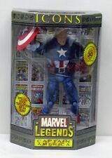 Marvel Legends Icons 12 inch Figure Unmasked Captain America NIP ToyBiz S170-1