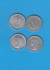 ° Afrique Occidentale Française 2 x  2 Francs  en Aluminium 1948 et 1955