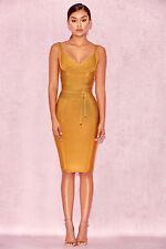 ad47c9d55ecc HOUSE OF CB 'Belice' Ginger Tie Waist Bandage Dress M 10 / 12 ZA