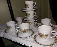 Corning Ware Centura Corelle Spice Of Life Set of 8 Cups and 8 Saucers