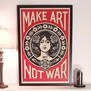 Shepard Fairey (OBEY) - Make Art Not War - Signiert - 2021