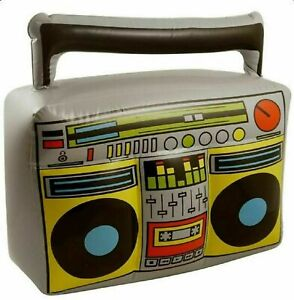 Inflatable Blow Up Novelty Boom Box Ghetto Blaster Party Fancy Dress UK SELLER.