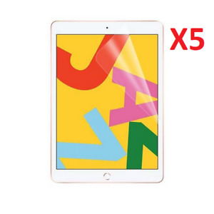 5 Pack For Apple iPad 10.2 Screen Protector Ultra Clear TPU Apple iPad (7th Gen)