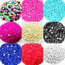 1000 Half Pearl Beads Acrylic Gems Round Flatback Craft Nail Art Embellishment