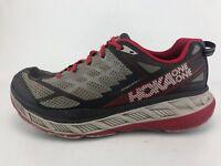 Hoka One One Stinson ATR 4 Running Shoes Gray Red Athletic Fitness Mens Sz 11.5