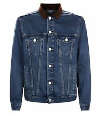 Men`s NEW LOOK Denim Jacket Sizes XS-S-M-L-XL-2XL Black & Blue - New with Tags