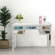 5 Drawer Mirrored Vanity Make-Up Desk Console Dressing Silver Glass Table Modern