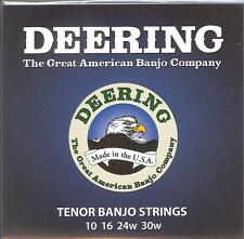 Deering 4 String Tenor Banjo Strings 10 16 24w 30w