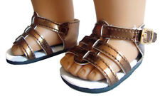 """For 18"""" American Girl Metallic Copper Gladiator Sandals Doll Clothes Accessories"""