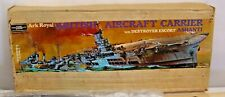 REVELL ARK ROYAL BRITISH AIRCRAFT CARRIER WITH DESTROYER ESCORT DOUBLE KIT BOXED