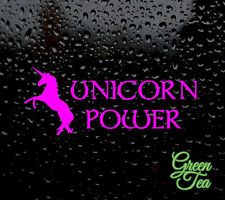 UNICORN POWER DECAL LOGO FOR CAR/VAN/LAPTOP VINYL STICKER FUNNY