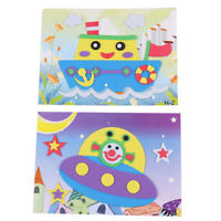 20Pcs Animals Designs 3D Foam Craft Sticker Puzzle Baby Learning Education To QA