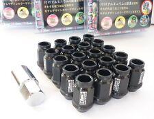 NERO * d1-Spec * Heptagon Lug Nuts 40mm m12 x 1.25 Dadi Ruota Cerchi Castello
