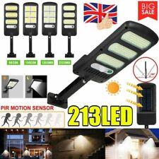 LED COB Solar Street Wall Light PIR Motion Sensor Dimmable Lamp Outdoor Garden